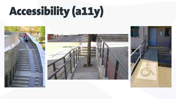 three wrongly built accessible ramps
